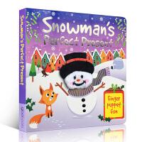 英文原版绘本 Finger Puppet Fun - Snowman's Perfect Present 圣诞雪人的礼
