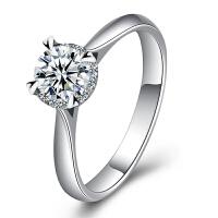 梦克拉 PT950铂金钻石戒指 情韵 铂金钻戒 钻饰女戒 婚戒 结婚戒指 订婚戒指 群镶钻