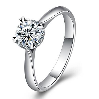 梦克拉 PT950铂金钻石戒指 情韵 铂金钻戒 钻饰女戒 婚戒 结婚戒指 订婚戒指 群镶钻 有美饰 更出色 优雅焕然一新