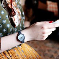 韩版牛仔带文艺女生手表简约森系清新女表中学生电子表