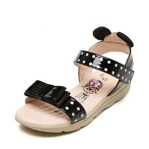 鞋柜shoebox/苹绮女中大童凉鞋低跟圆头儿童凉鞋小女孩亲子鞋