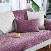 欧式毛绒防滑沙发垫布艺现代简约冬沙发套客厅四季通用沙发巾