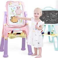 可升降画架涂鸦写字板 宝宝画板双面磁性可翻转可支架式家用儿童