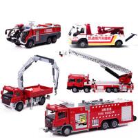 20180604025236645凯迪威合金工程车 登高消防车云梯车儿童玩具消防汽车模型