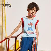 【3件2折:35元】男童装纯棉背心2021夏季款儿童无袖t恤宝宝打底衫中大童洋气潮