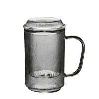 日式耐热带把玻璃泡茶杯花茶杯过滤带盖办公室水杯家用 大号细纹泡茶杯