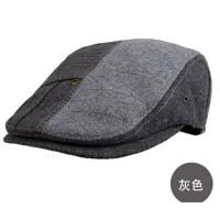 男韩版潮秋冬天毛呢鸭嘴帽前进帽鸭舌帽男士帽子冬季贝雷帽