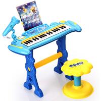 益米 哆啦A梦 儿童电子琴 早教玩具可插电钢琴 宝宝礼物NO.(双供电模式) 纯深蓝 电子琴