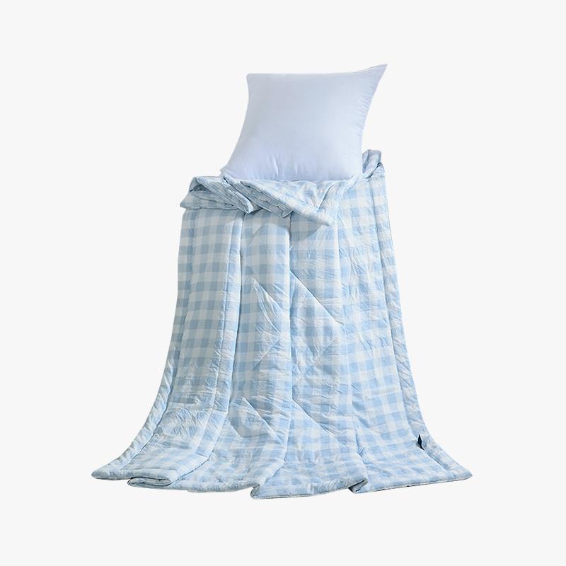 当当优品家纺 水洗棉裸睡夏凉被 110x150单人空调被 俏丽(蓝)当当自营 柔软舒适水洗棉 水洗机洗不变形