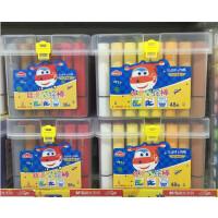 晨光超级飞侠儿童丝滑彩绘棒桶装幼儿园蜡笔24色36色48色安全无毒可洗彩色彩绘棒涂鸦画笔