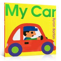 英文原版绘本 My Car 我的车 Byron Barton 科普简画入门启蒙图画书儿童书 学前阅读图画书 2-6岁百