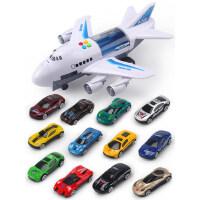 儿童玩具飞机模型超大号男孩宝宝玩具车音乐惯性仿真客机轨道耐摔