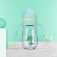 宝宝学饮杯吸管杯幼儿园带手柄背带儿童水杯婴儿喝水