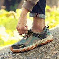 户外鞋男登山鞋低帮休闲迷彩徒步鞋防水运动鞋防滑透气旅游鞋春季