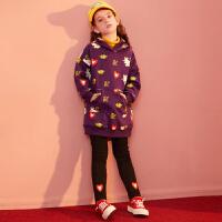 【2件4折:169】巴拉巴拉旗下女童加绒卫衣套装儿童新年运动服2019新款冬装动物女