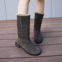 秋冬新款女童短靴加绒小高跟公主靴韩版蝴蝶结中大童女孩棉鞋