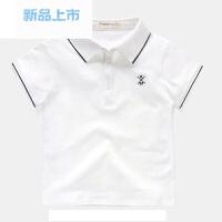 男童高领短袖T恤POLO衫2018夏装新款夏季童装儿童宝宝打底衫