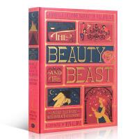 英文原版The Beauty and the Beast 美女与野兽 经典童话故事书全彩复刻插图版 3D立体弹出手工书