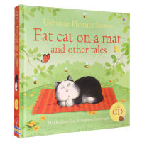 英文原版精装Usborne Phonics:fat cat on a mat 12个故事合集CD
