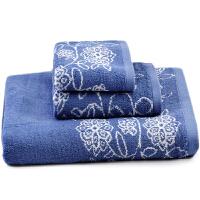 三利 爽颜竹纤维青花瓷毛巾浴巾3件套 毛巾36×75cm/2条 浴巾70×140cm/1条