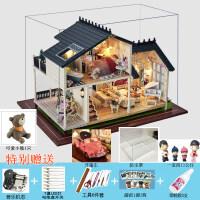 diy小屋房子手工制作模型玩具别墅女生创意生日礼物
