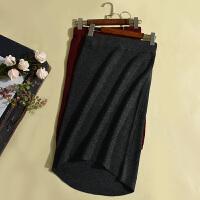 冬季新款女装简约气质包臀针织半身裙中长裙LY12071231