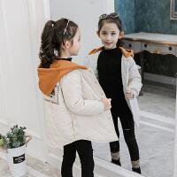 【到手价:94元】童装2019冬季新款女童薄款绗线棉衣中大童保暖棉服儿童宝宝棉衣