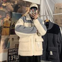 棉衣2019冬季新款韩版潮流休闲冬装外套男士帅气连帽羊羔绒男棉袄
