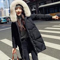 羽绒服中长款冬季宽松时尚大毛领加厚保暖女士外套