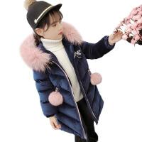 童装女童棉衣新款金丝绒洋气冬装中长款棉袄外套儿童羽绒棉服
