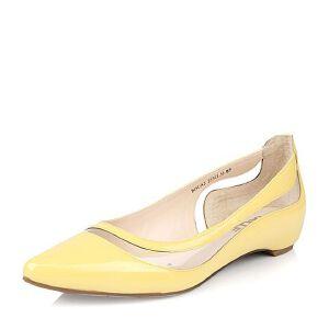 Belle/百丽春季专柜同款甜美可爱漆皮牛皮女单鞋BDUA2AQ6