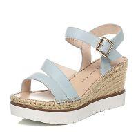 Tata/他她夏季专柜同款牛皮女凉鞋2PO05BL6