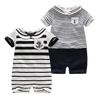 婴儿新生儿衣服夏季宝宝衣服短袖连体衣外出服