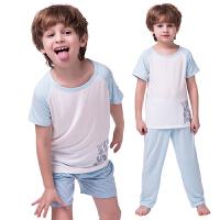 男童睡衣夏 儿童睡衣家居服宝宝空调服中大童短袖