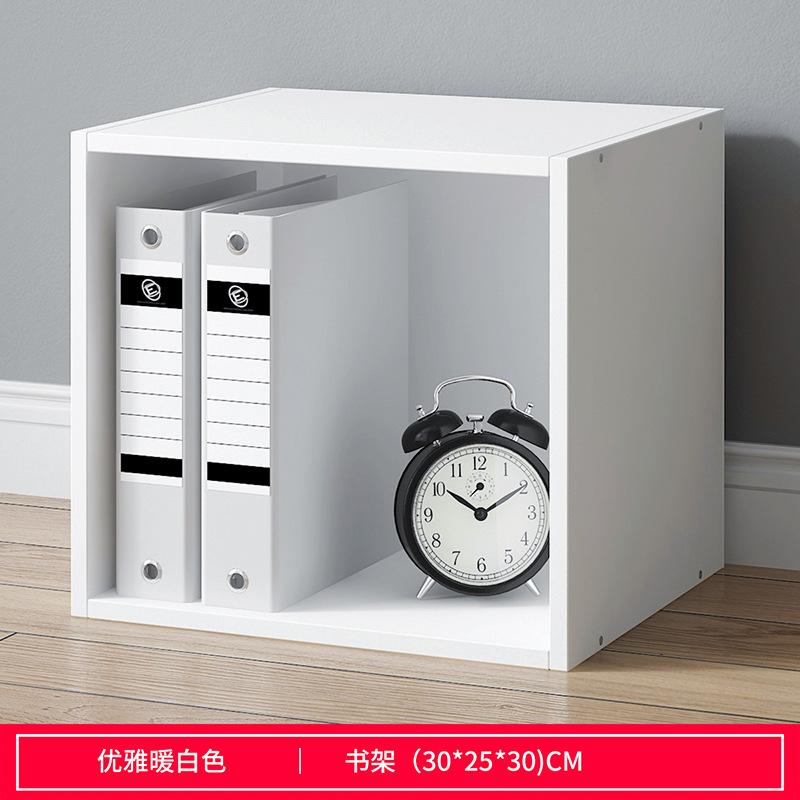 书柜书架简易落地书桌简约现代置物架学生组合书柜客厅创意收纳柜