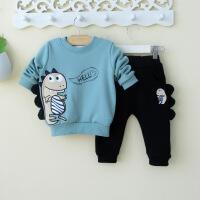 幼儿童装恐龙男童宝宝冬装春秋装0一1-3岁婴儿潮衣服时尚套装韩版