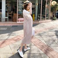 孕妇春装连衣裙2018新款孕妇装春装上衣韩版两件套裙子潮妈