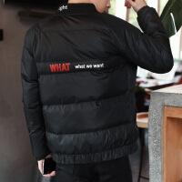 反季男士外套冬季2018新款棉衣韩版修身潮流帅气加厚棉袄