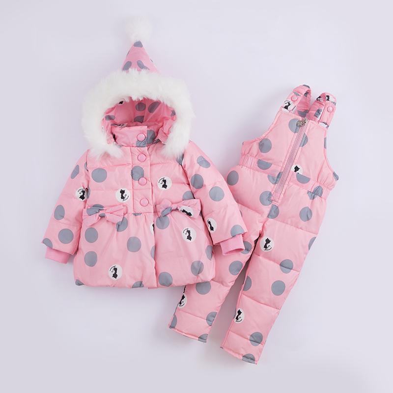 新款儿童羽绒服套装男女宝宝中小童两件套1-3岁婴幼冬装外套反季