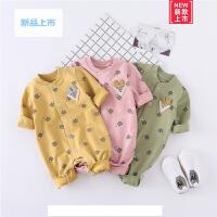 婴儿连体衣春秋新生儿6-12个月纯棉卡通爬服1岁男女宝宝外出衣服