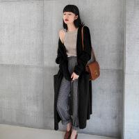 【羊绒】针织衫女开衫春秋季2018新款韩版中长款针织毛衣外套