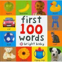 英文原版 Big Board First 100 Words 宝宝的一百个单词 纸板书