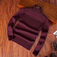 长领毛衣男季2017新款潮流个性羊毛衫修身型百搭高领针织衫