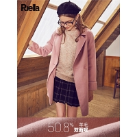【满300减30】毛呢外套女冬学生中长款秋冬款西装呢子韩版新款小个子大衣女