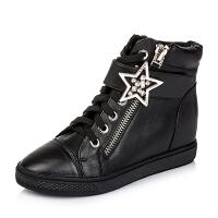 Teenmix/天美意专柜同款牛皮革女皮靴6QJ41CD5