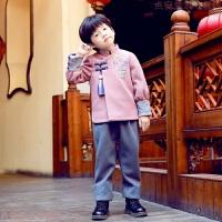 唐装冬拜年服周岁宝宝过新年衣服男童儿童汉服女童襦裙中国风童装