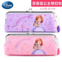 迪士尼 苏菲亚公主小学生笔袋女童迪士尼儿童文具盒大容量铅笔袋金属扣袋
