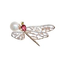 【闲宴】欧美复古董款华丽vintage珐琅昆虫蜻蜓男女外套胸针项链