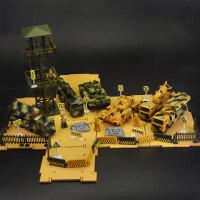 工程车套装惯性玩具车挖掘机装载车搅拌车吊车卡车模型男孩礼 授权出口军事车套装