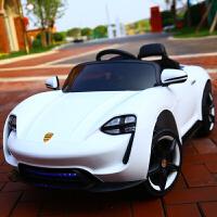 婴儿童电动车四轮带遥控汽车可坐小车小孩宝宝玩具童车充电可坐人 白色 缓起+早教+拉杆